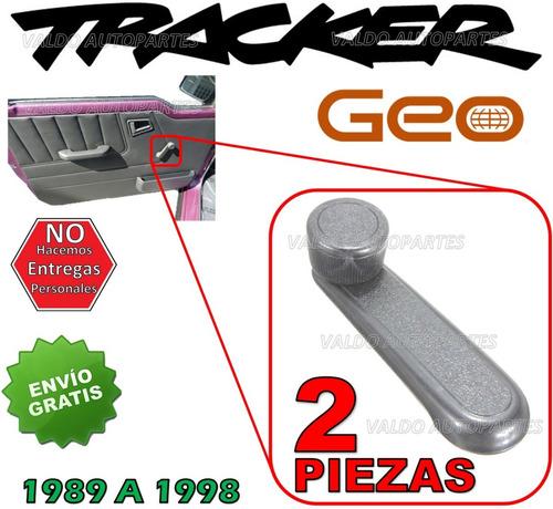 89-98 geo tracker manivela vidrios manuales gris 2 piezas