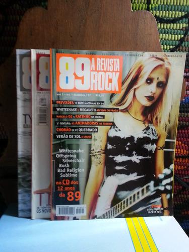 89 a revista rock - 4 exemplares ano 1 e 2