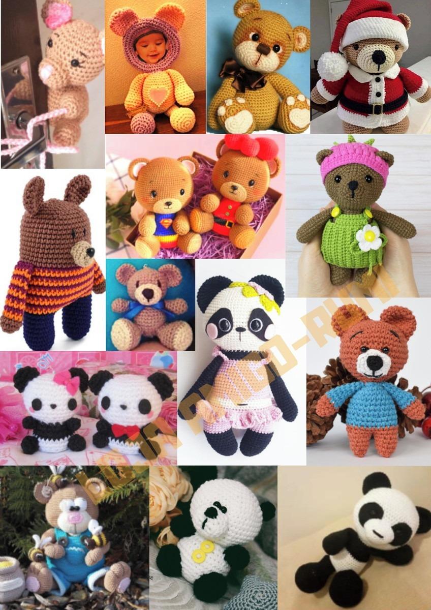 Ursinho Panda Amigurumi- Urso panda de crochê- receita amigurumi ... | 1200x848