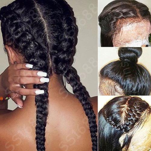 8a 100% brasileño virgen cabello humano 360 frontal peluca