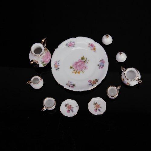 8pcs cenar artículos de porcelana juego de té plato, plato,