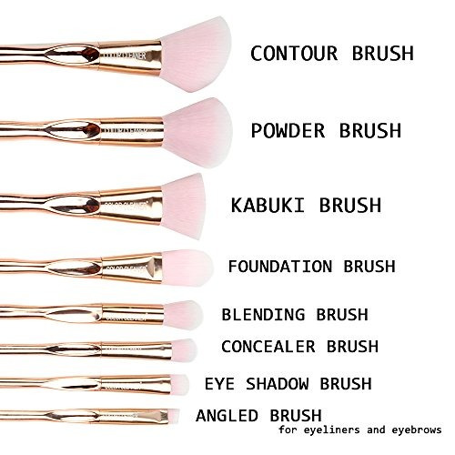8pcs conjunto de cepillo de maquillaje profesional