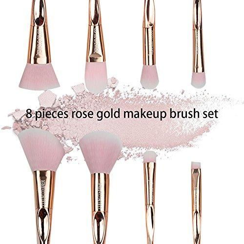 8pcs conjunto de cepillo maquillaje profesional