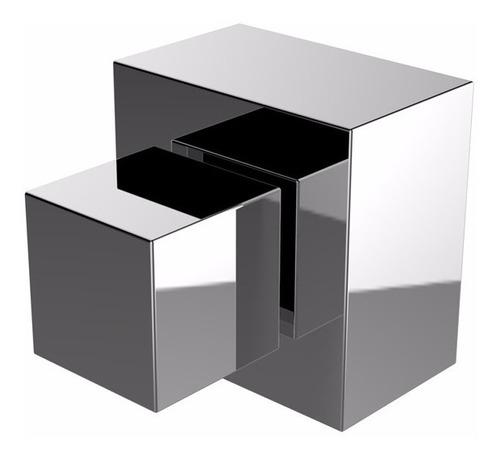 8x acabamento quadrado p/ registro pressão/gaveta deca 3/4