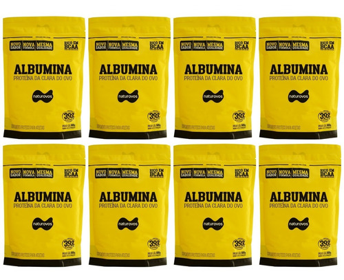 8x albumina 500g naturovos total 4kg (consulte sabor)