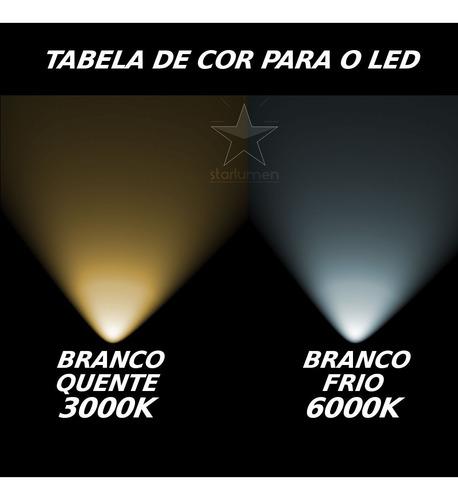 8x arandela frisada luminária + lâmpada led 5w externa st548