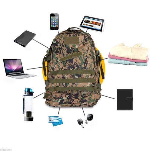 8x mochila tático army ak-40l floresta digital modular molle