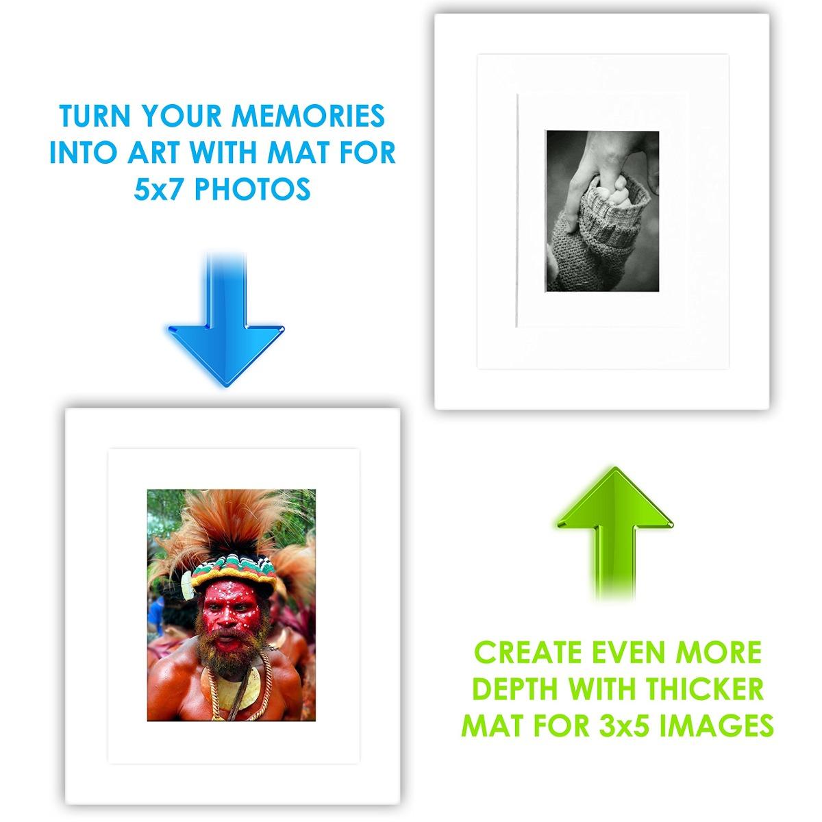 8x10 Marco De Fotos Blanco 2 Paquete Marcos De Fotos De ...