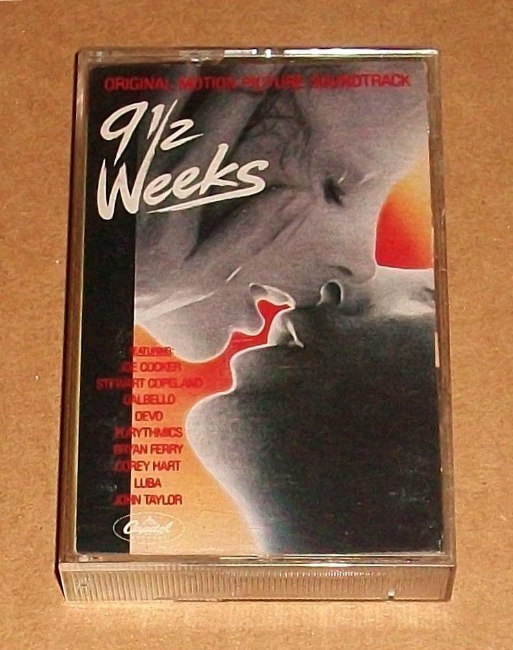 9 1 2 Weeks Soundtrack Cassette Devo Eurythmics Joe Cocker