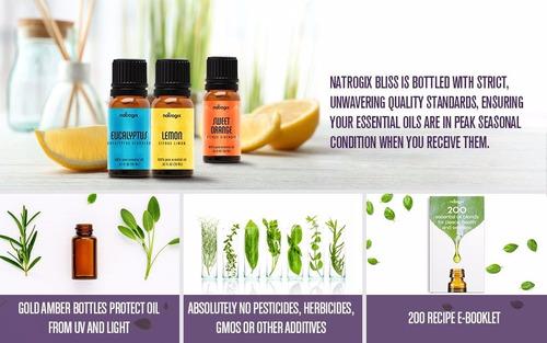 9 aceites esenciales menta certificados orgánicos y libro