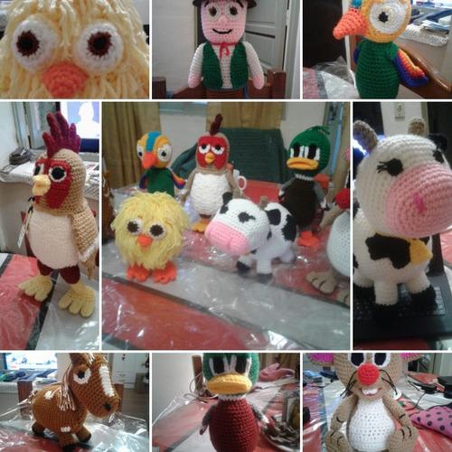 9 animales de la granja de zenon. unicos!!!!