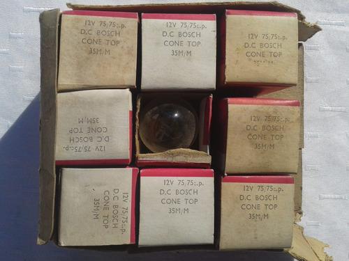 9 antiguos focos foquitos 12v 75/75 cp bosch made in england