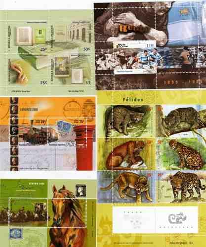 9 bloques argentina entre los años 1999 y 2001 tematicos