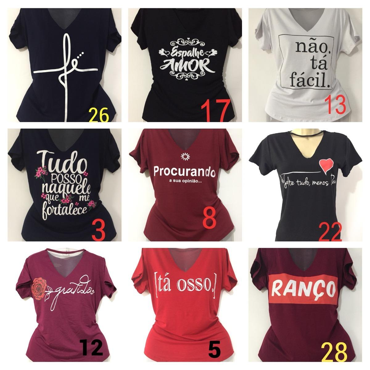 9a76710f2 9 blusas camiseta feminina frases ranço procurando. Carregando zoom.