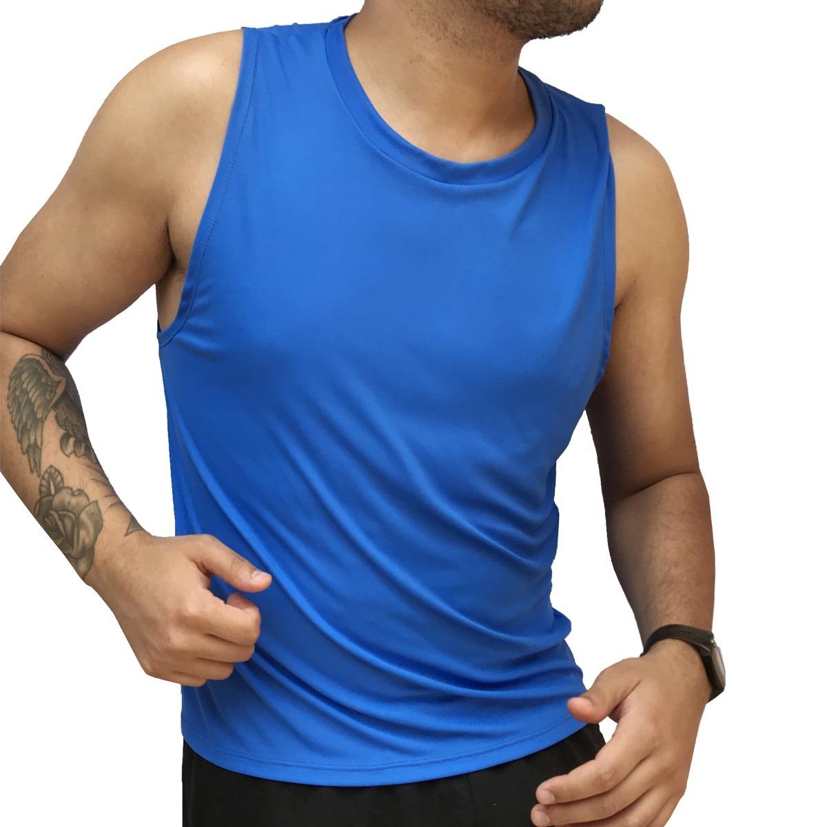 9 Camisetas Regata Masculina Dry Fit 100% Poliamida Fitness - R  197 ... e40345bb0d4
