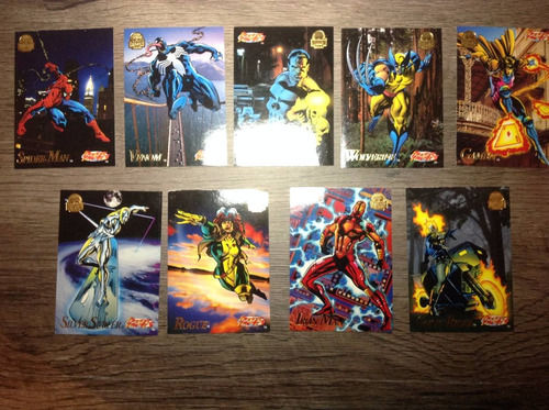 9 cards colecionáveis marvel freeze games 1994