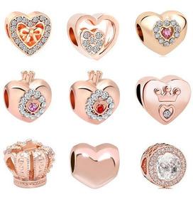 39511b830142 9 Charms Rosas Y Cristales Compatibles Con Pulsera Pandora