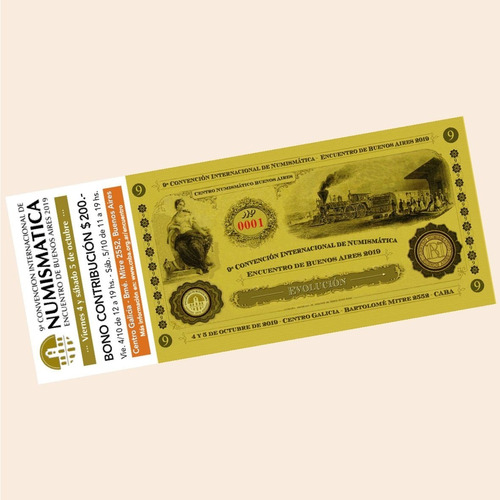9ª convención internacional de numismática - 4 y 5 octubre