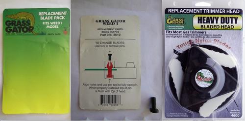 9 cuchillas reemplazo para desmalezadoras grass gator u.s.a