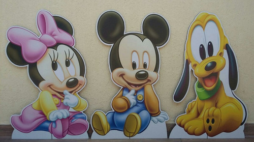 9 disney baby minnie mickey totem chão 80 e display mesa 22
