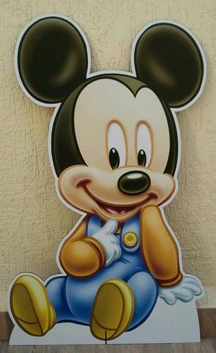 9 disney baby minnie mickey totem chão 80 e display mesa 22