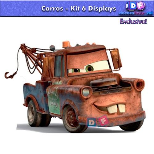 9 display chão carros totem painel cenário festa mcqueen mdf
