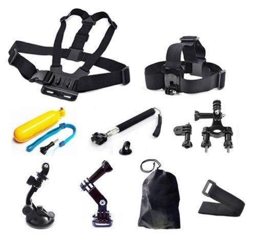 9-en-1 cabeza pecho conjunto de kit de accesorios de montaje