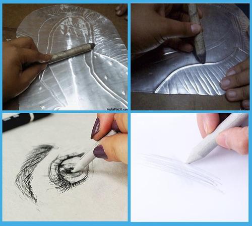 9 esfuminos accesorio dibujo repujado arte marca doarts