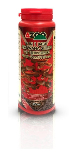 9 in 1 baby arowana sticks 330ml/120g azoo alimento