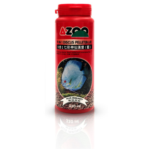 9 in 1 discus pellet blue 330ml/140g azoo alimento