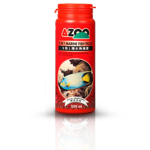 9 in 1 marine fish pellet 120ml/60g azoo alimento