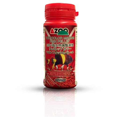 9 in 1 top color marine fish pellet 35ml/15g  azoo alimento