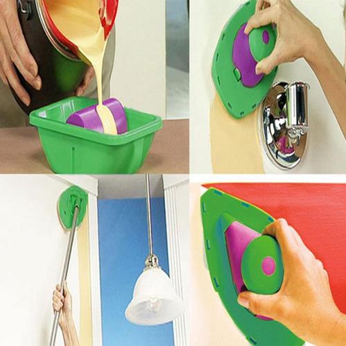 9 pcs paint rolo bandeja sponge pads kits pintura casa escov