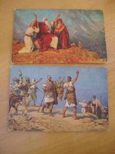 9 postales sagrada escritura-serie ii-h.k. & co. munich
