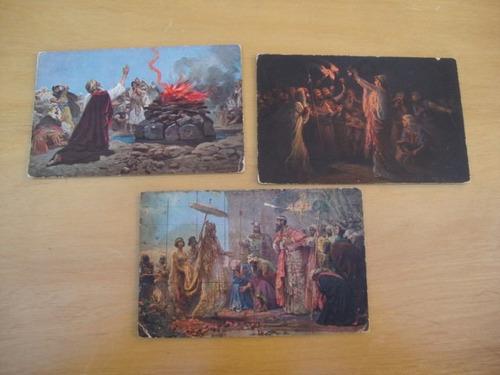 9 postales sagrada escritura-v serie-h.k. & co.-serie v