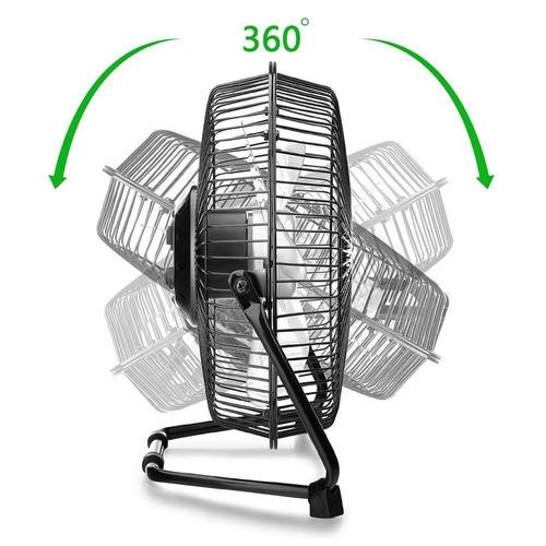 9 pulgada usb turística personal ventilador, 2 velocidades