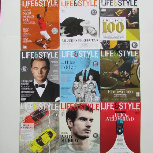 9 revistas life & style de colección impecables 2013.