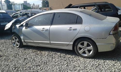 (9) sucata honda civic lx 2007 auto. retirada de peças