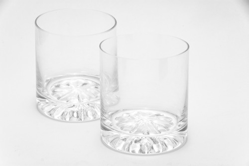 9 vasos de whisky de fino cristal