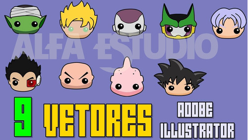 9 vetores dragon ball pocket adobe illustrator