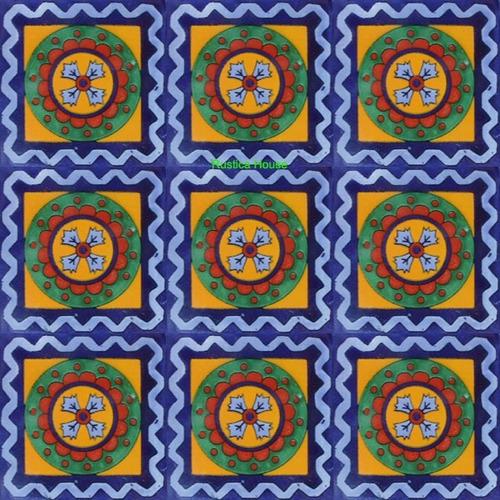 90 azulejos de talavera 10x10 - colonial5