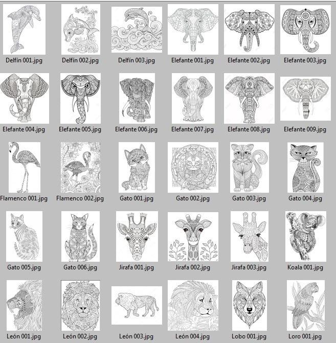 90 Mandalas De Animales Para Imprimir Y Colorear - $ 29.00 en ...