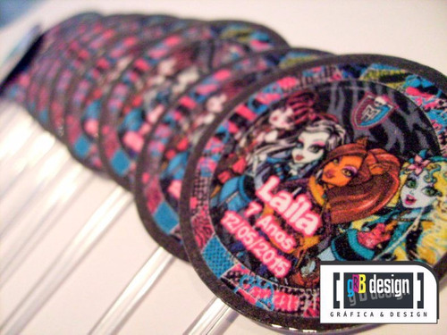 90 tags totens toppers monster high personalizados festa