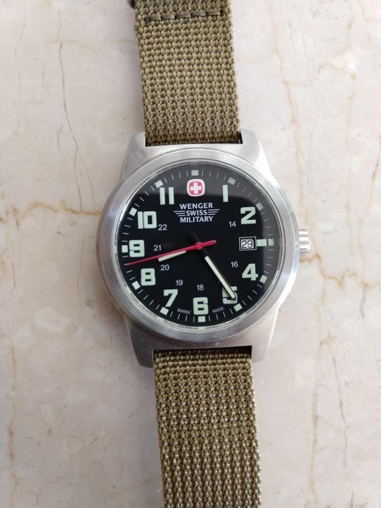 ahorrar 4aa26 8fb30 90 Verde Reloj Wenger Suizo Militar Swiss Military Caballero
