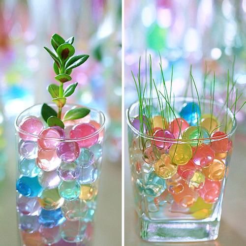 900 perlas de gel biogel hidrogel crecen agua colores