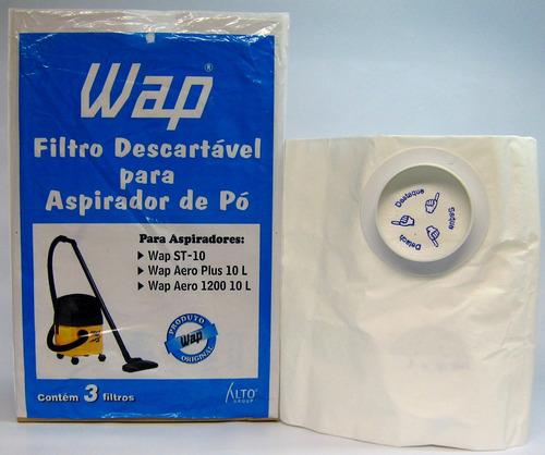 90000100 kit saco descartável wap 10 litros mod. st - 10 cat