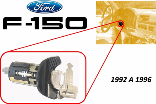 92-96 ford f150 switch encendido con llaves color negro