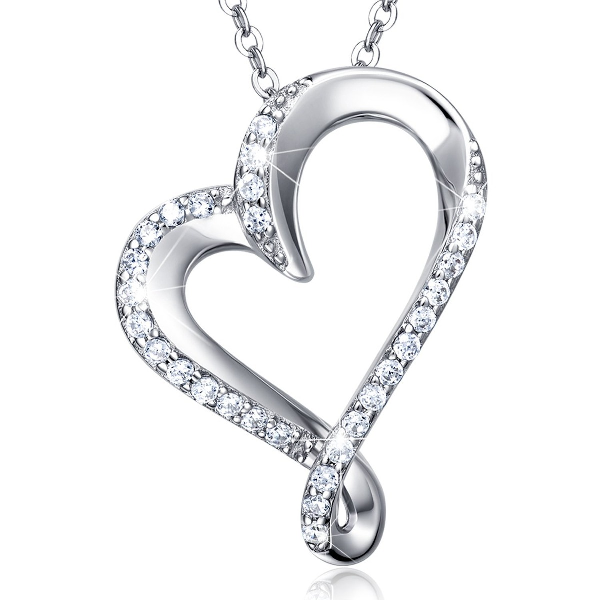 925 sterlilessness love platino plated diamond pendant women 925 sterlilessness love platino plated diamond pendant women cargando zoom aloadofball Image collections