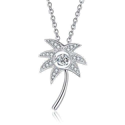 925 sterling silver dancing diamond cubic zirconia palm tree 933 925 sterling silver dancing diamond cubic zirconia palm tree aloadofball Image collections