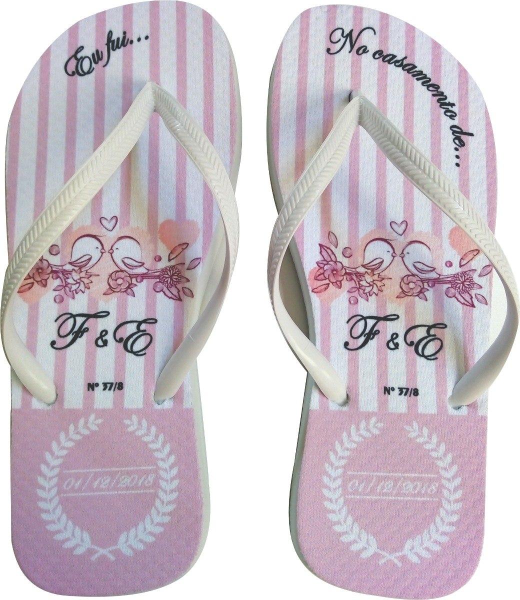 ed7af314ee 95 pares chinelos personalizados casamento + embalagens. Carregando zoom.